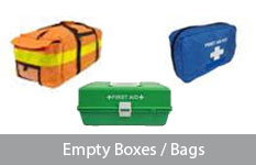 empty boxes/ bags
